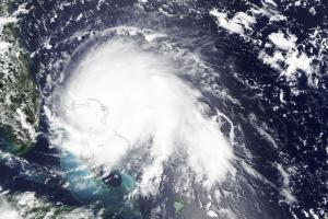 The Moderate Resolution Imaging Spectroradiometer (MODIS) on NASA's Aqua satellite captured this natural-color image of Hurricane Dorian at 2:05 p.m. Eastern Daylight Time (18:05 Universal Time) on 1 September 2019. Image: NASA.