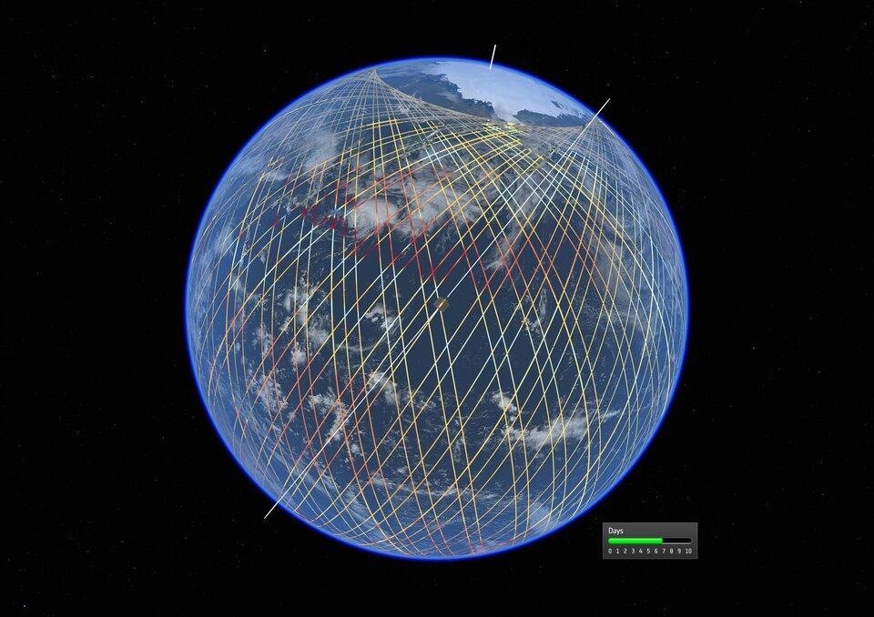 Copernicus Sentinel 6 orbital tracks
