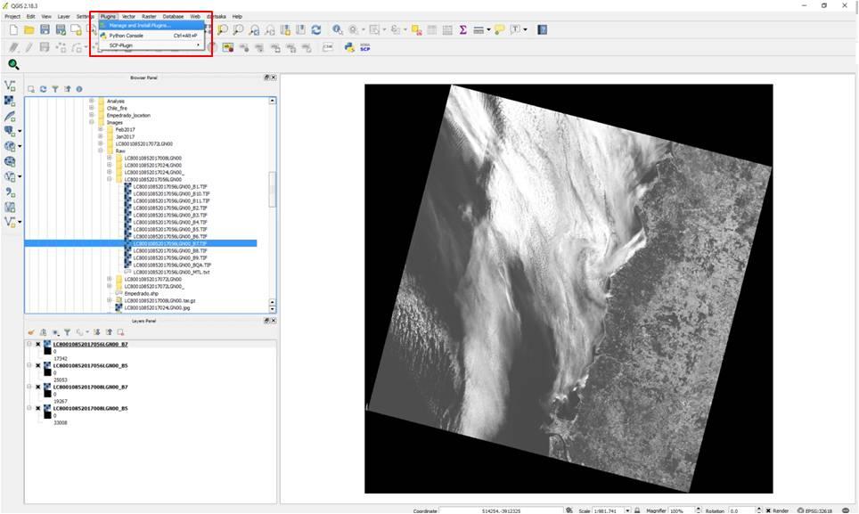 Step by step: Burn Severity with QGIS (Landsat 8) | UN
