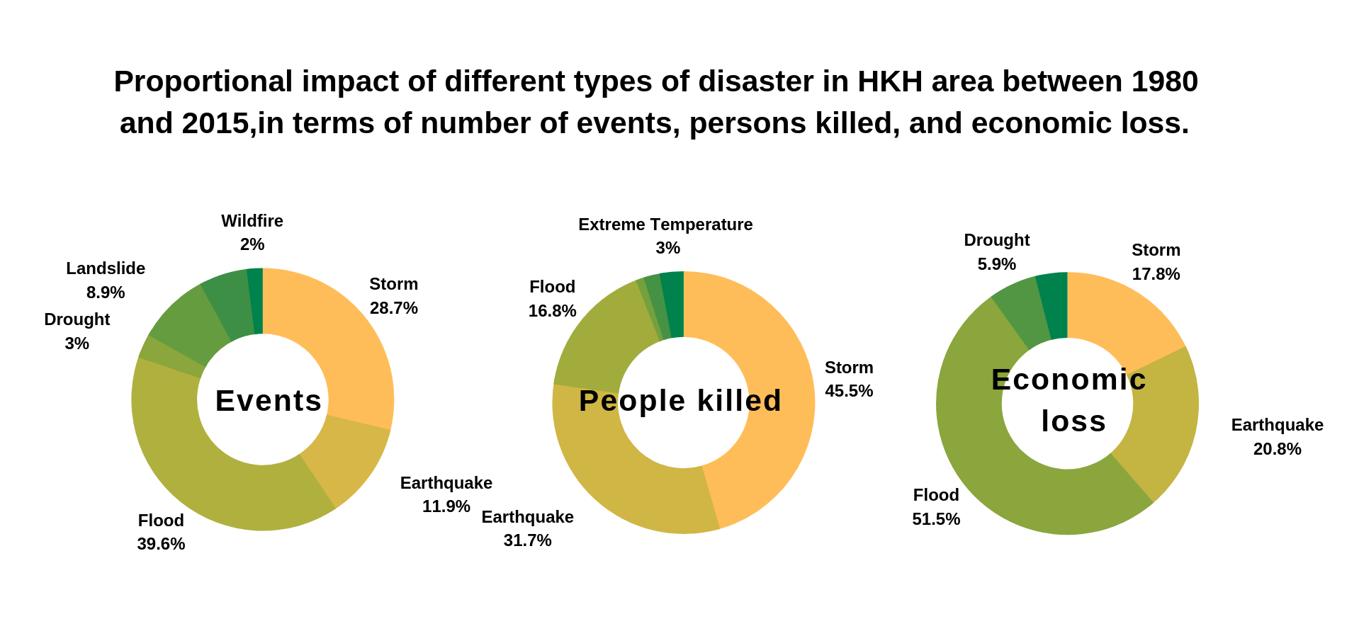 Impact of disasters on HKH Area
