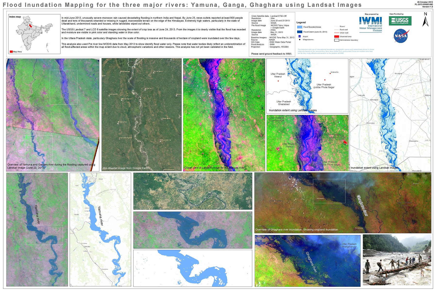 Floods In India UNSPIDER Knowledge Portal - Map of flooding in us