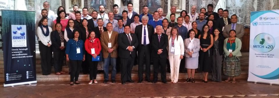 Participants at a UN-SPIDER/SENACYT seminar in Guatemala, 30-31 October 2018