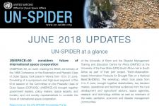 UN-SPIDER June 2018 Updates