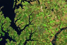 Satellite Remote Sensing for Agricultural Applications logo. Image: NASA