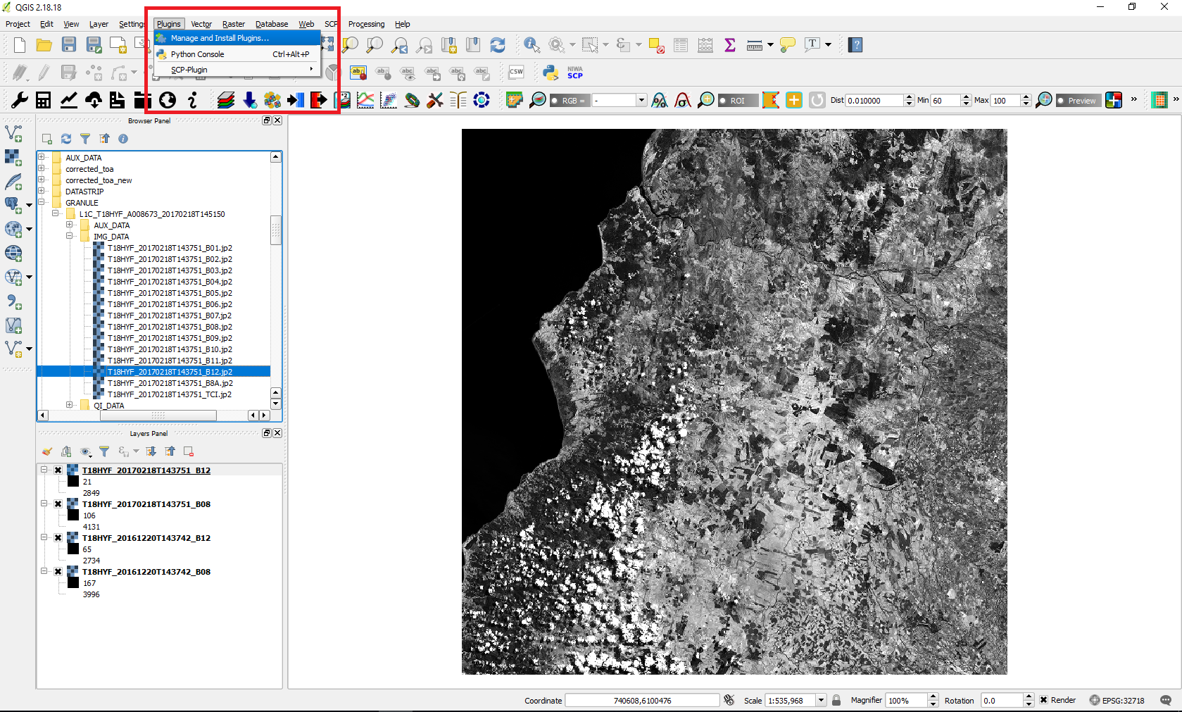 Step by step: Burn Severity with QGIS and optical data