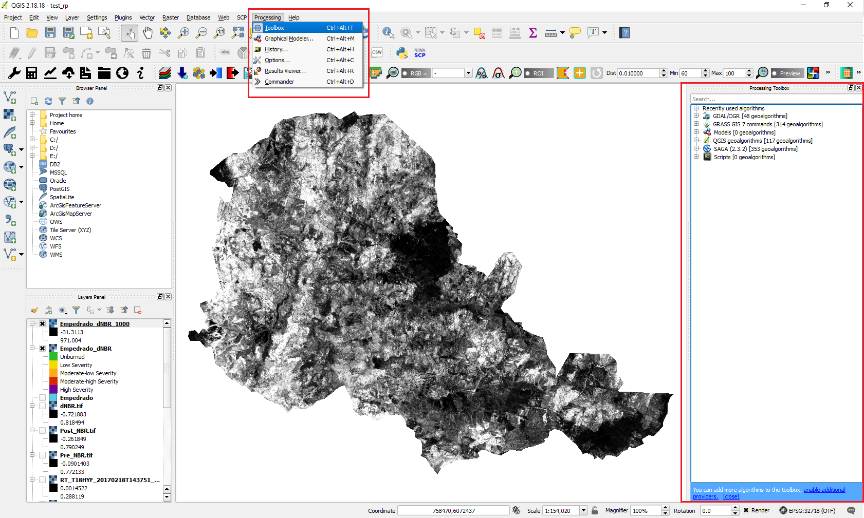 Step by step: Burn Severity with QGIS and optical data (Sentinel-2