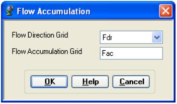 the flow accumulation grid S 100 Arcmap 10 Restrict Flow Accumulation Geographic