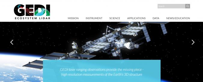 Screenshot of GEDI