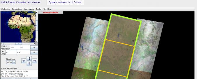 Global Visualization Viewer(USGS) | UN-SPIDER Knowledge Portal