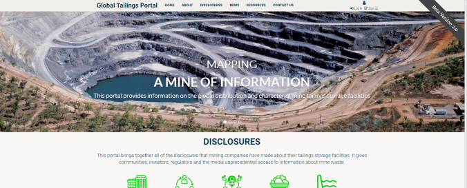 Global Tailings Portal (GRID Arendal)