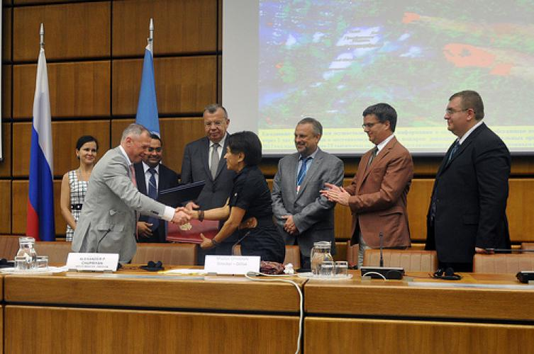 Emercom new un spider regional support office in russian federation signing of the agreement between the united nations office for outer space affairs and emercom credits unis vienna platinumwayz