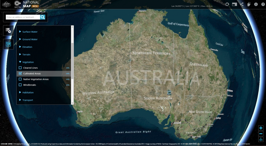 Australia government launches national map for geospatial data the web application allows users to overlay different geospatial datasets credits nasa sciox Image collections