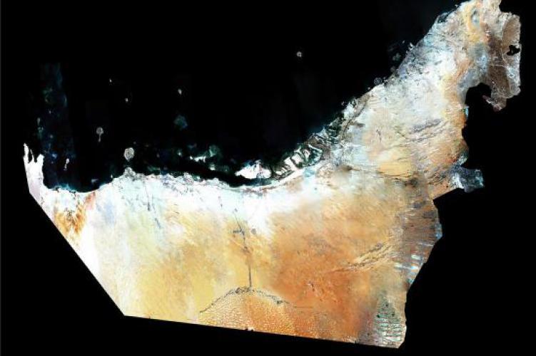 satellite image of uae by dubaisat 1 image eiast