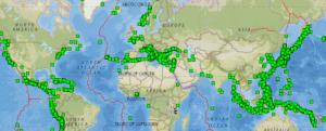 Screenshot of Historical Earthquake Database
