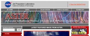 Screenshot of ASTER