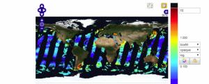 Screenshot of Global Ocean Chlorophyll