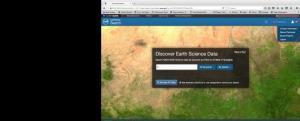 Screenshot of MODIS