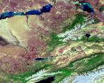 Kazakhstan and Kyrgystan seen from space