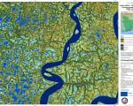 Flood area map created by the International Charter for Bangladesh in 2009