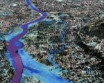View of a 3D map of flood-prone Cagayan de Oro