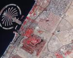 satellite image of Dubai