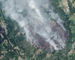 This natural-color image of the fire in Sweden was captured by Landsat 8