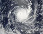 Tropical Cyclone Wilma raged over the Pacific Ocean