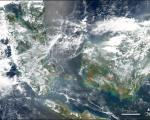 NASA's Aqua satellite detected fires in Malaysia and Indian Ocean 's islands