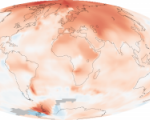 Global mean land-ocean temperature change from 1880 to 2014, relative to the 1951–1980 mean. (Image: NASA/Robert Simmon)