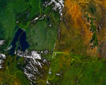 Rwanda satellite map (Image: NASA)