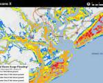Static example of the experimental potential storm surge inundation map (Image: NOAA)