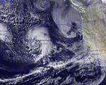 The first wave of January 2010 El Nino storms (Image: USNRL)