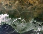 The Niger delta (Image:ESA)