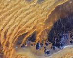 Satellite image of the water-scarce Sahara desert in Algeria (Image: ESA)