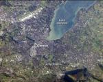 Satellite image of the city of Geneva, Switzerland (Image: NASA)