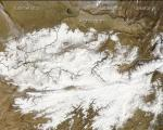 Satellite Image of Snow Cover in Afghanistan