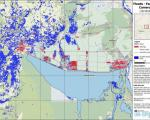 Preliminary flood map created by UN-SPIDER using Sentinel-1 radar imagery.