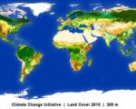 Mapa de la cubierta terrestre mundial a partir de 2015. Imagen: ESA.