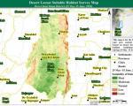 Desert locust suitable habitat survey map. Image: SUPARCO.