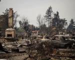 Wildfire in California in October 2017