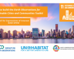 Earth Observation Toolkit for Sustainable Cities and Communities logo. Image: GEO