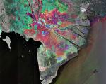 Radar Image of Mekong Delta