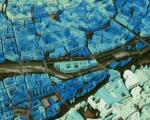 Global 3D model of urban areas, generated using TanDEM-X Satellite data. Sophisticated AI procedures are used. Image: DLR/ TUM.