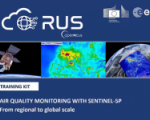 Air quality monitoring with Sentinel-5p. Image: RUS