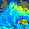 Nitrogen dioxide concentration over Europe captured by Sentinel 5P Image: ESA European Space Agency.