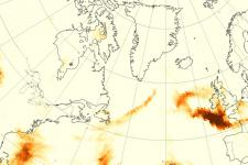 Wildfire smoke is injected high into the atmosphere