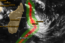 Tropical Cyclone Bejisa is expected to make landfall on La Réunion on 2 December