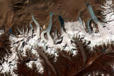 Glacial lakes in Bhutan seen from space