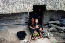Displaced Family in Thailand