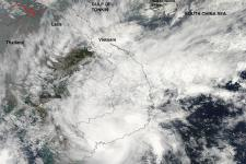 Tropical Storm over Vietnam
